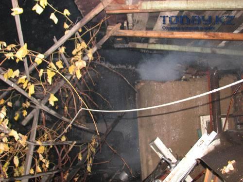 Дом сгорел, а «Сундучок» остался (фото)