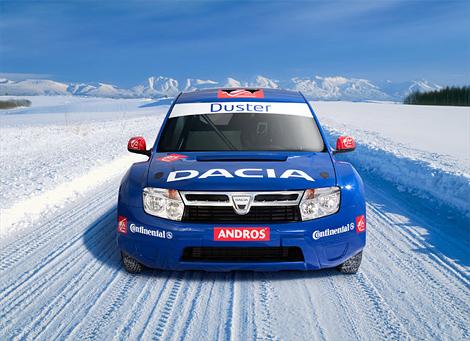 Кроссовер Dacia дебютирует в ледовых гонках