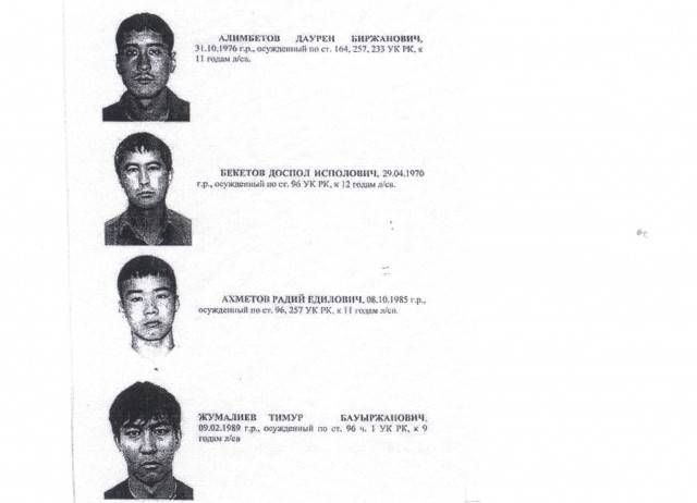 Ориентировка на сбежавших преступников