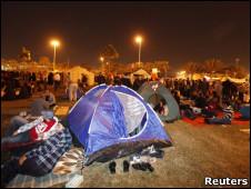 Палаточный лагерь в Манаме