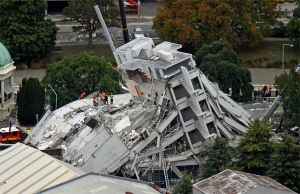 Землетрясение в Новой Зеландии (фото)