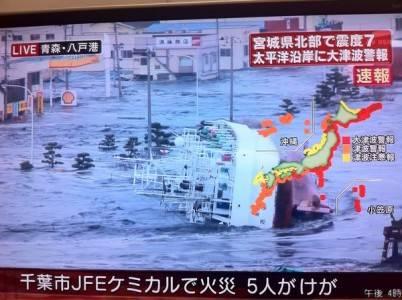 В Японии произошло мощное землетрясение, повлекшее цунами