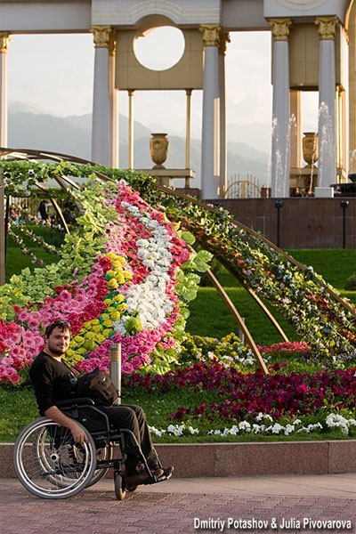 Парк первого президента республики Казахстан недоступен для инвалидов (фото)
