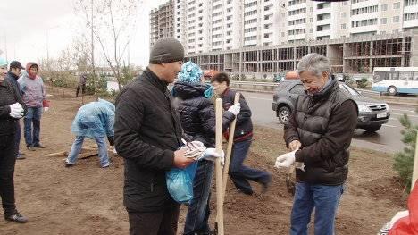 Около 80 тыс. астанчан вышли на общереспубликанский субботник (фото)