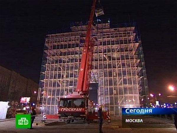 Триумфальная арка в Москве лишилась колесницы и «Богини победы» (фото)