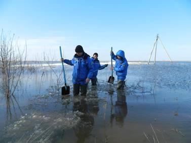 На реках ЗКО начался интенсивный подъем уровня воды