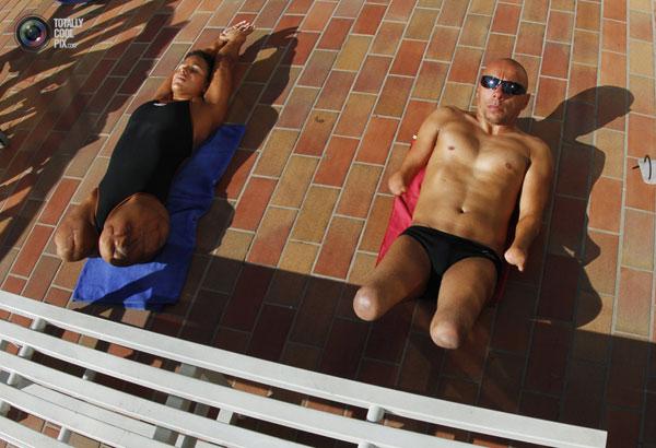 Лондон 2012 - тренировка паралимпийских пловцов (фото)