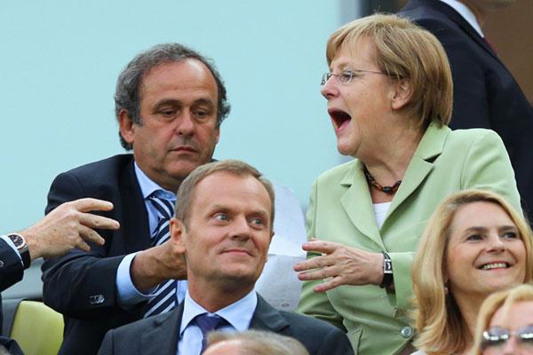 Знаменитости на трибунах Евро-2012 (фото)