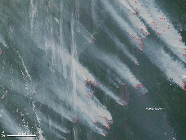 Дым от сибирских пожаров дошел до США, подарив американцам огненные закаты (фото)