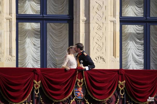 Королевская свадьба: принц Гийом Люксембургский и бельгийская графиня Стефании де Ланнуа