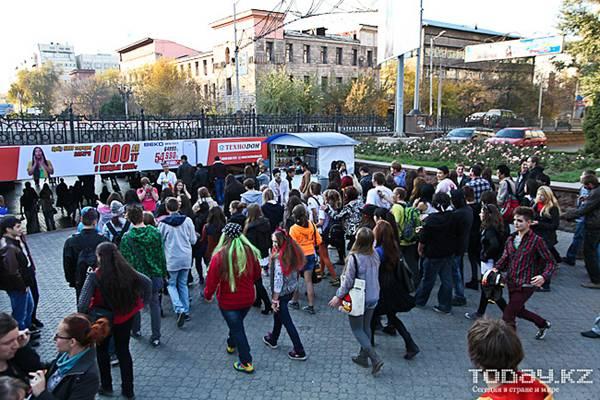 В Алматы произошло нашествие зомби (фото)