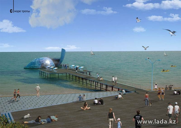 Пляж Актау будет благоустроен по проекту дизайнерской компании из Южной Кореи (фото)