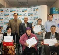 В Кызылорде гранты на открытие бизнеса от фонда «Даму» получили инвалиды