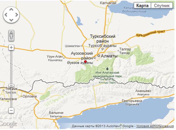 В Алматинской области произошло землетрясение магнитудой 4,1 балла