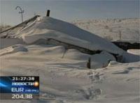 В восточном Казахстане десятки поселков погрузились под снег