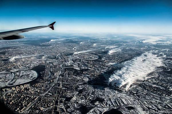 moskvapodkrilom 1 Под крылом самолета   Москва
