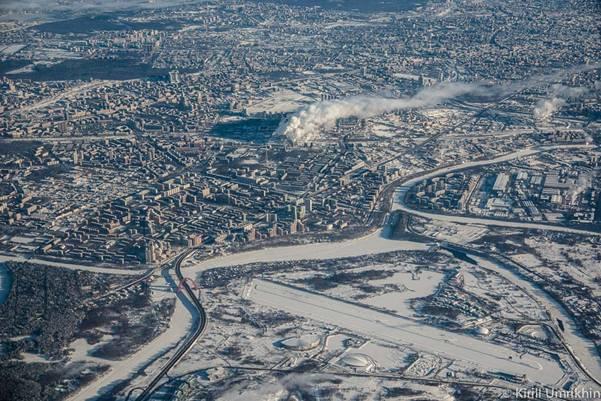 moskvapodkrilom 6 Под крылом самолета   Москва