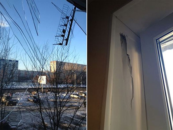 Взрывы над Челябинском выбили окна в нескольких домах, идет эвакуация людей из зданий