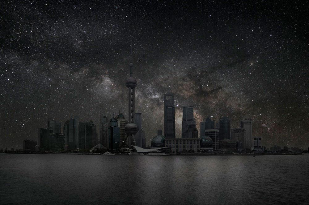 Звездное небо над крупнейшими городами мира