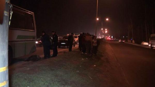 В Алматы автобус насмерть сбил мужчину (фото)