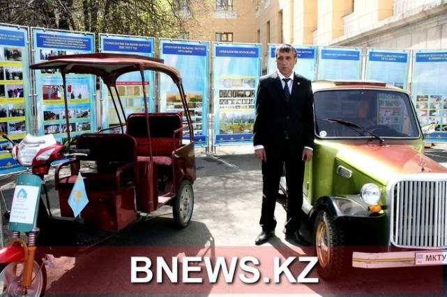 В Алматы презентовали автомобиль и юрту на солнечных батареях (фото)