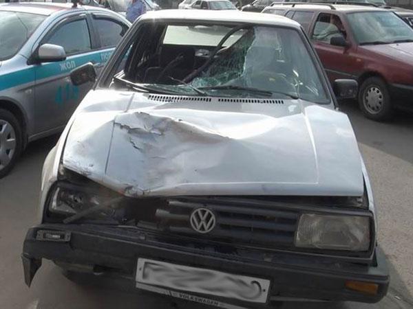 В Алматы на проспекте Рыскулова сбили женщину (фото)