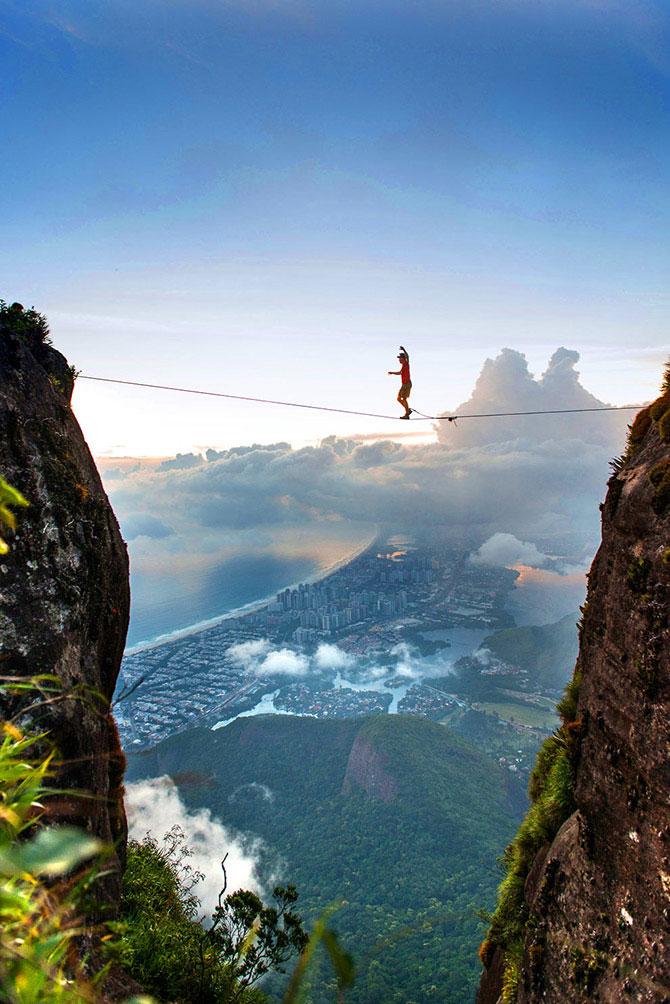 Слэклайн над Рио