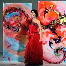 В Алматы открылась выставка «Моя Япония» художницы Саори Канда