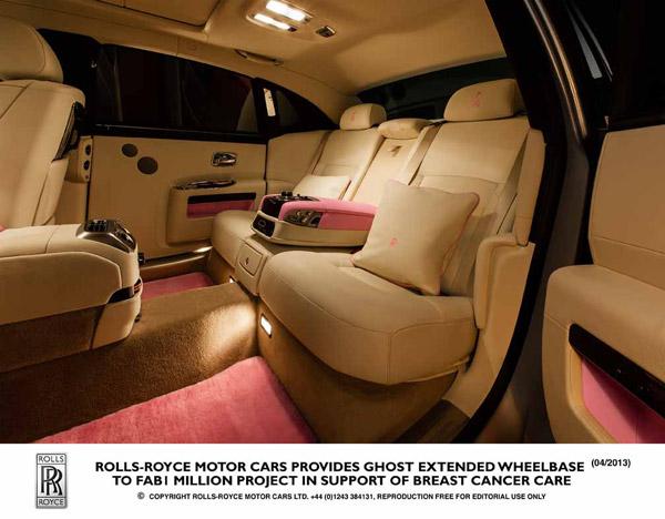 Автомобиль Ghost Extended поддержит благотворительную организацию Breast Cancer Care