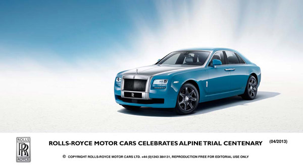 Коллекция Rolls-Royce Motor Cars Alpine Trial Centenary Collection: дебют на международном автосалоне Auto China 2013 г.