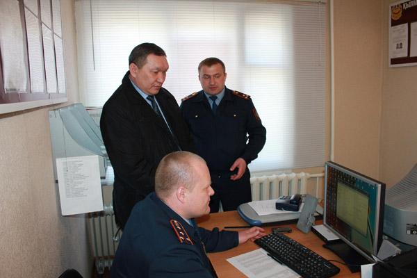 Начальник управления документооборота МВД РК посетил с рабочим визитом ДВД Костанайской области
