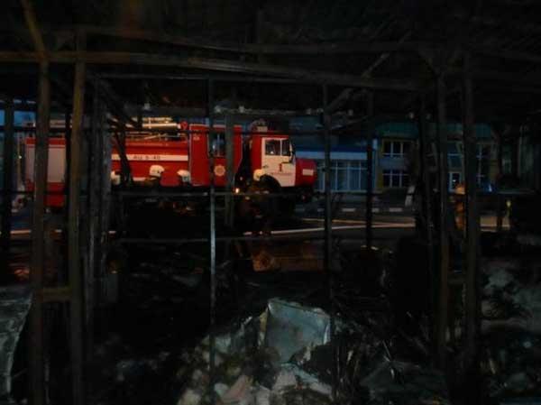 В Петропавловске горели торговые бутики (фото)