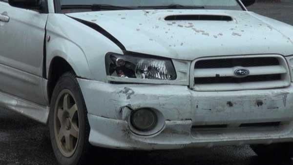В Алматы Subaru протаранила автомашину Toyota (фото)