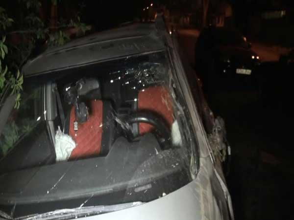 В Южной столице опрокинулся «Мицубиси Аутландер» (фото)