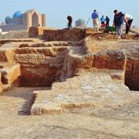 Фото Ербулата СМАГУЛОВА. Древнюю цитадель обнаружили недалеко от мавзолея Ходжа Ахмеда Ясави