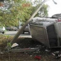 Сбитый столб обойдется жителю Уральска в 60 тыс тенге