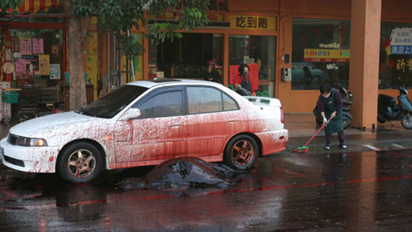 В Тайване взорвался кит (фото)