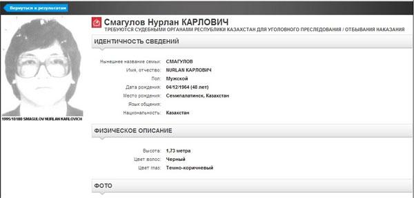 Самые известные казахстанцы в списке розыска Интерпола