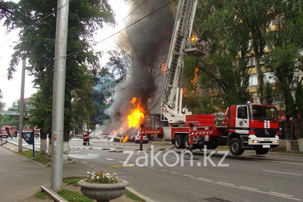 «Огненное» лето Алматы (фото)