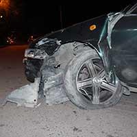 ДТП с участием трех машин произошло в Алматы (фото)