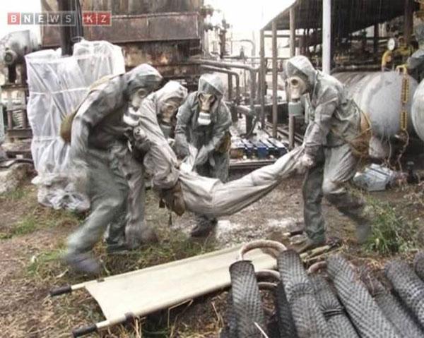 На химически опасных объектах Караганды и Темиртау прошли учения