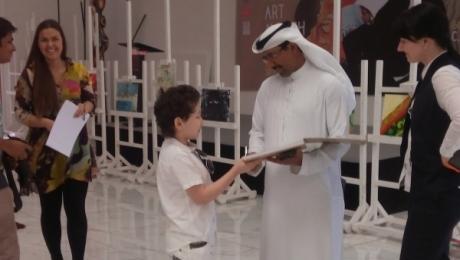 Талант восьмилетнего художника был отмечен арабским шейхом - владельцем картинной галереи.