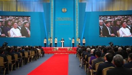 Видео инаугурации Президента Казахстана Нурсултана Назарбаева от 29 апреля 2015 года