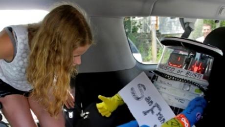 В США оторвали голову роботу-автостоперу