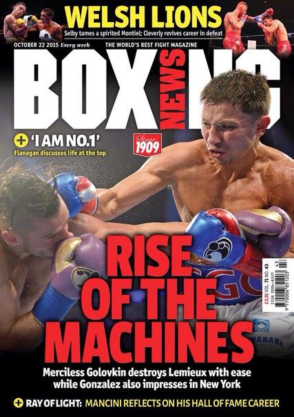 На обложку октябрьского британского журнала о боксе Boxing News , был помещен Геннадий Головкин