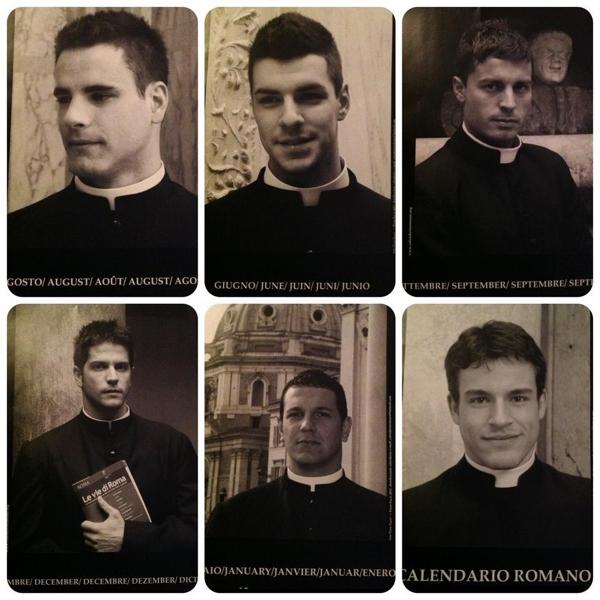 Календарь с фотографиями священников Ватикана произвёл фурор в Сети