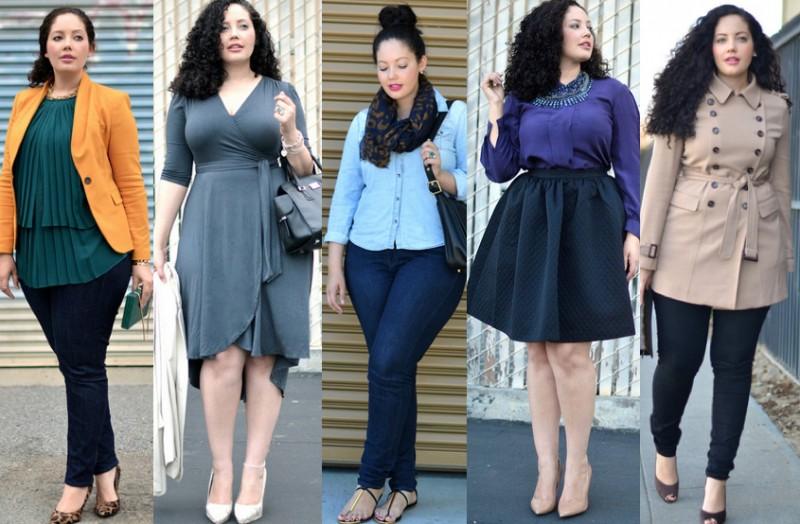 Как одеться полной женщине красиво