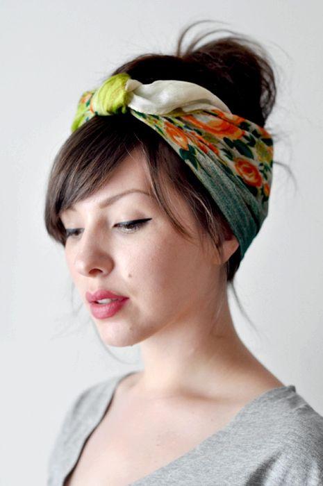 Прически с повязками на голову