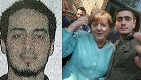 Селфи улыбающейся Меркель сбрюссельским террористом опубликовали вглобальной сети