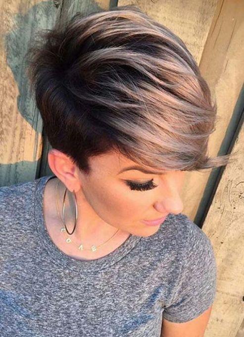 Модная окраска волос короткая